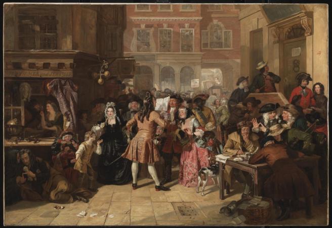 The South Sea Bubble, a Scene in 'Change Alley in 1720 1847, exhibited 1847 by Edward Matthew Ward 1816-1879